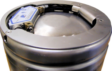 Top of a Rotech Electronic Keg